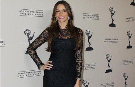 Sofia Vergara, actriz de 'Modern Family', a su llegada a&amp;#160;la Academia de la Televisin de EEUU, en Los ngeles, el lunes 20.