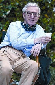 Woody Allen, durante el rodaje de 'A Roma con amor'.