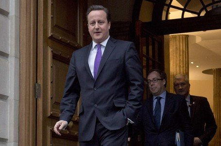Cameron, tras una intervencin sobre la UE, el 23 de enero, en Londres.