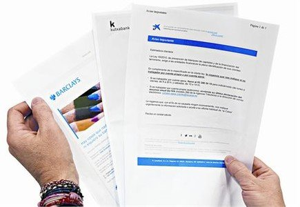 Algunas entidades financieras ha remitido cartas a sus clientes en las reclaman informaci�n sobre su actividad.