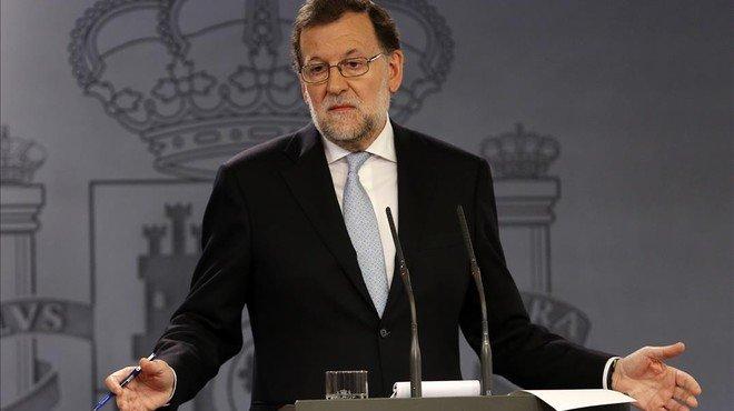 """Rajoy no veu """"cap altra sortida"""" que la celebració a Catalunya d'unes altres eleccions"""