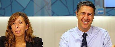 Alicia S�nchez-Camacho y Xavier Garc�a Albiol, ayer, en la sede del PP.