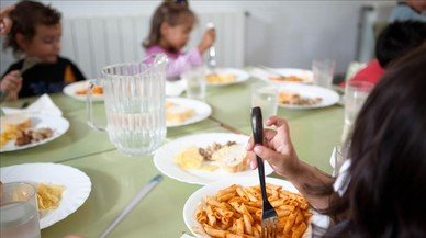 Comedor escolar abierto en verano, en Terrassa.