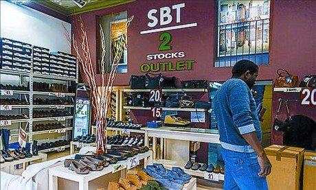 De compras por 'outlets'