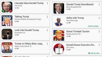 Trump 'desembarca' al teu mòbil: aquestes són les principals 'apps' inspirades en el president