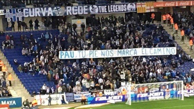 Els Mossos busquen els responsables de les pancartes del camp de l'Espanyol