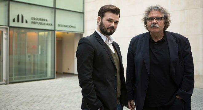 Entrevista a Gabriel Rufián y Joan Tardà, candidatosde ERC al Congreso de los Diputados.