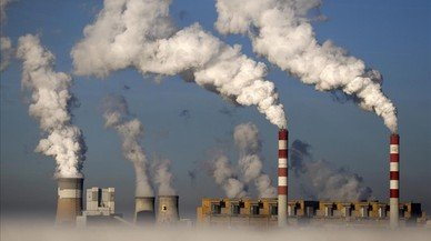 Una central energ�tica alimentada con carb�n, en Polonia.