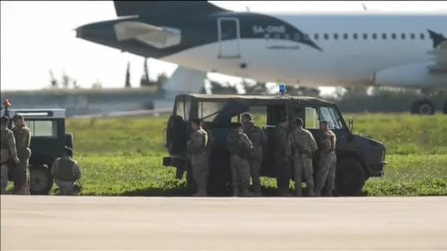Possible segrest d'un avió libi a Malta