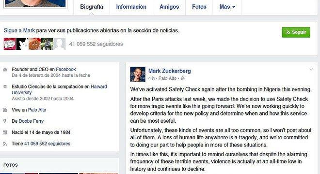 Facebook activa el botó de seguretat per a Nigèria
