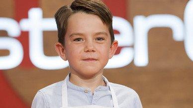 El joven Oscar Jefferson,en una imagen promocional del programa de TVE-1 'Masterchef Junior'.