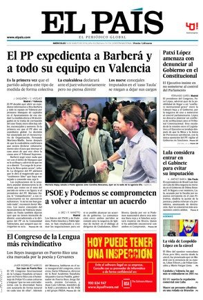 'El PP obre la porta a expulsar Barber�', titula 'La Raz�n'