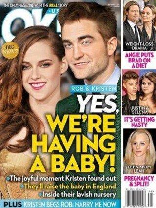 Una revista especula con la pr�xima paternidad de Robert Pattinson y Kristen Stewart