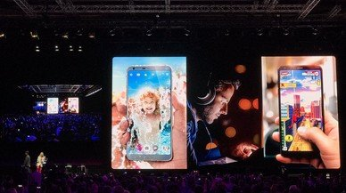 Presentación del LGG6 en el Mobile World Congress, este domingo.