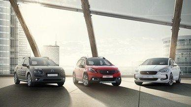 Tres modelos del Grupo PSA (DS, Peugeot y Citro�n.