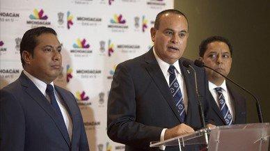 El fiscal del estado de Michoacán,Martin Godoy, informa de la localización del cadáver de Adame.