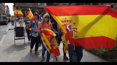 Manifestació per la unitat d'Espanya a la plaça de Sant Jaume