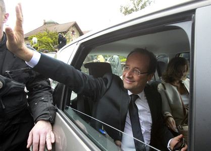 Hollande, esta maana, en Pars.