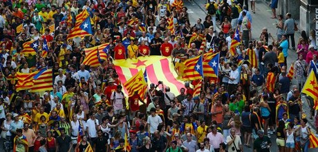 Ambiente independentista en Barcelona, en la Diada del pasado 11 de setembre.