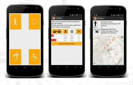 Algunas de las interfaces de la aplicación