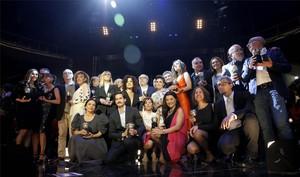 Els premiats van posar al final de la cerimònia que es va celebrar a Madrid.