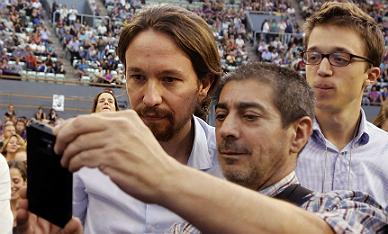 Pablo Iglesias durante la Asamblea Ciudadana.