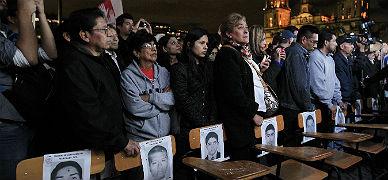 Manifestantes reunidos en la plaza central de Ciudad de M�xico, el mi�rcoles,