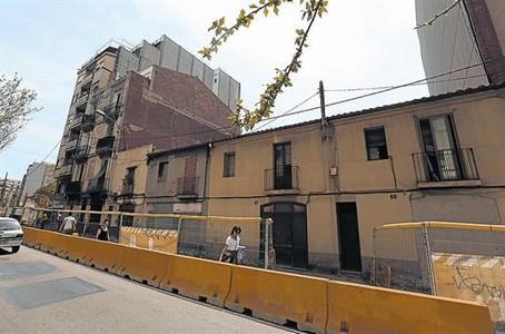 La ubicación 8 Terrenos sobre los que se construirá el edifico en cesión de uso de la cooperativa La Borda.