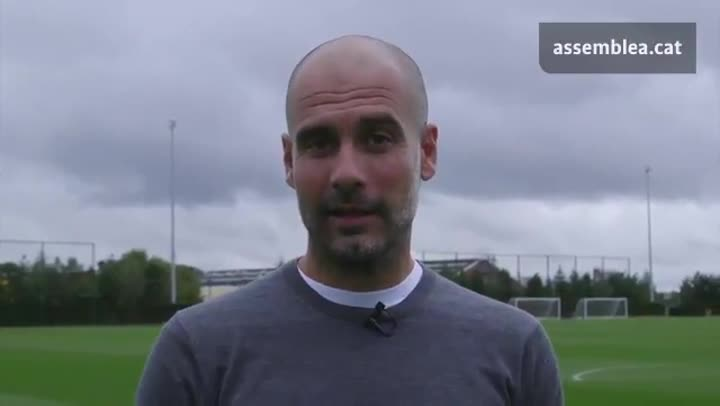 Pep Guardiola apoya el referéndum del 1-O.
