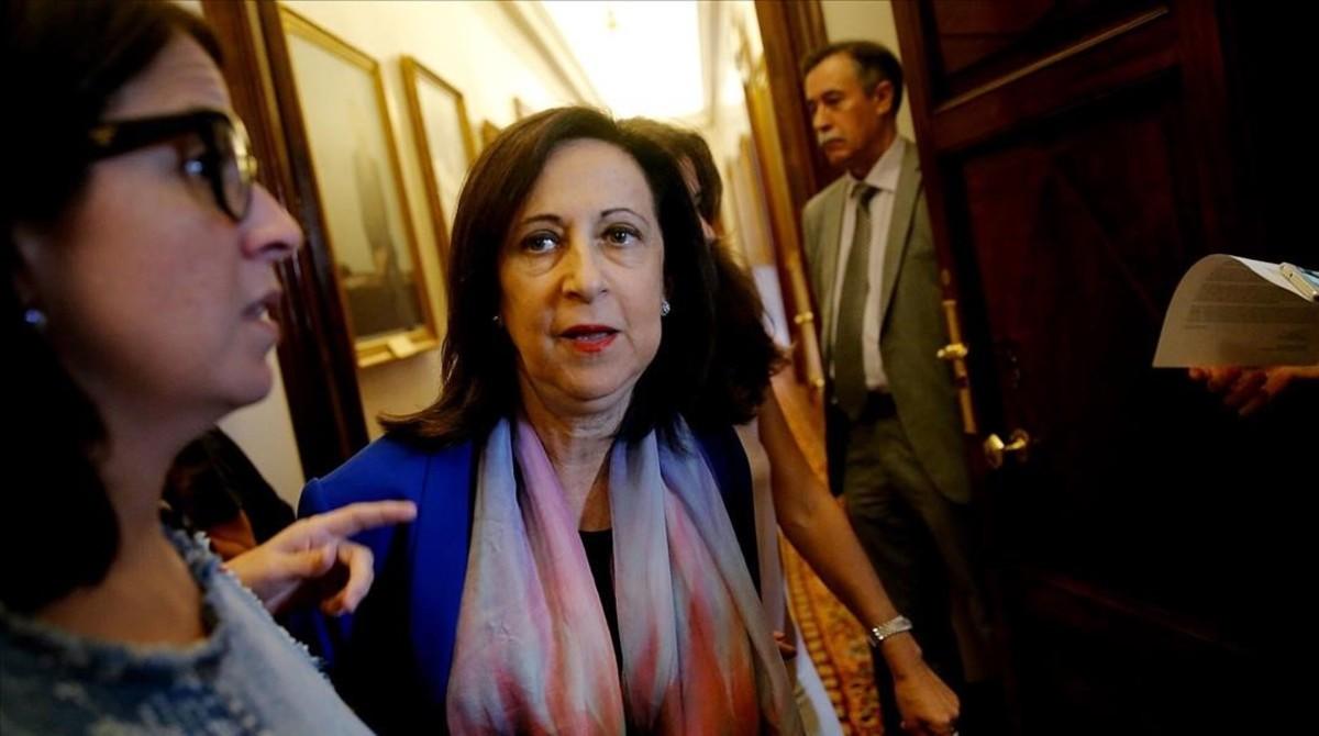 La portavoz socialista, Margarita Robles, este martes en el Congreso.