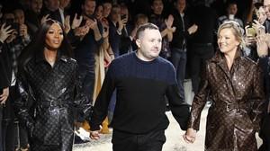 Kim Jones dice adiós a Vuitton con Naomi Campbell y Kate Moss