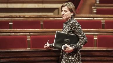 Rigol, Benach y De Gispert encabezan en el Parlament un acto de apoyo a Forcadell