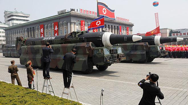 Desfilada militar a Pyongyang.