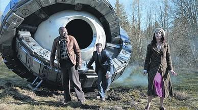 Malcolm Barrett, Matt Lanter y Abigail Spencer son el tr�o protagonista de la serie 'Timeless'.