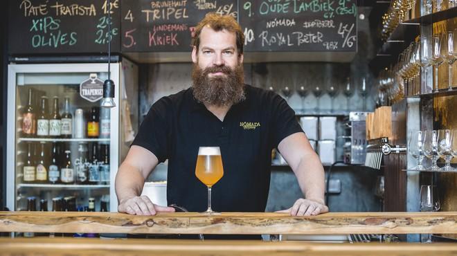 Sami Claret, en la cerveceria Olut de Sabadell.