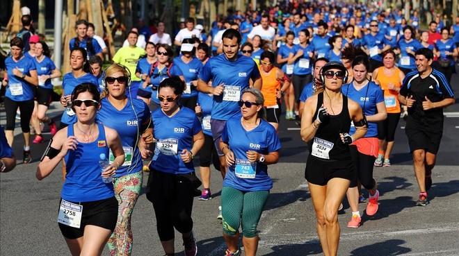 10.000 corredores toman este domingo la Diagonal en la DIR-Guardia Urbana