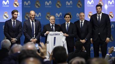 """Florentino Pérez: """"Benvinguts a un lloc on solo importen els valors esportius"""""""