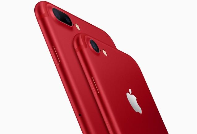 iPhone rojo.