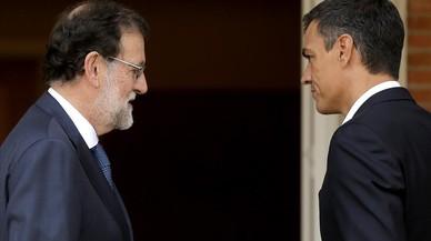 """Rajoy i Sánchez pacten aprovar lleis orgàniques per millorar l'""""encaix"""" de Catalunya"""