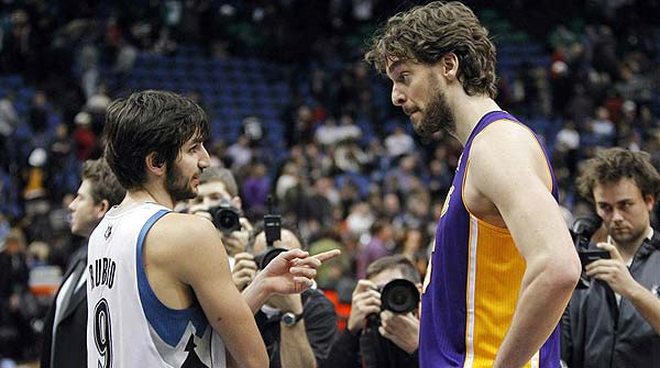 Bryant y Gasol acaban con Los Timberwolves de Rubio.