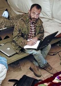 مارك مارجينيداس، في أفغانستان، في شهر كانون الأول ـ ديسمبر عام ٢٠٠٦