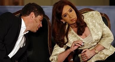 Cristina Fern�ndez de Kirchner y su ministro de Econom�a, ayer en Buenos Aires.