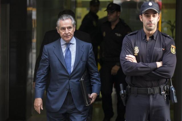 Miguel Blesa, expresidente de caja Madird abandona la Audiencia Nacional. Foto de archivo.