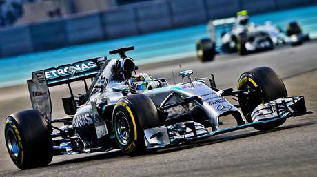 El monoplaza de Lewis Hamilton, durante el GP de Abu Dabi, la �ltima carrera de la temporada