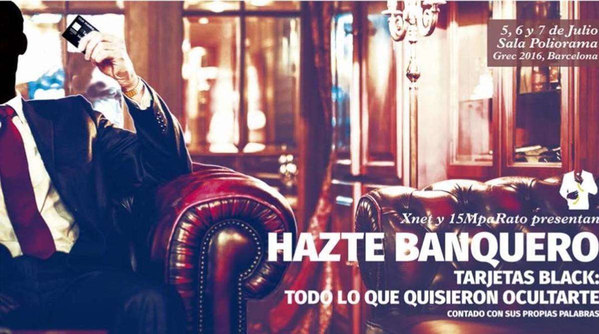 Cartel de la obra de teatro Hazte banquero