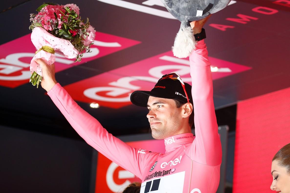 Tom Dumoulin, en el podio