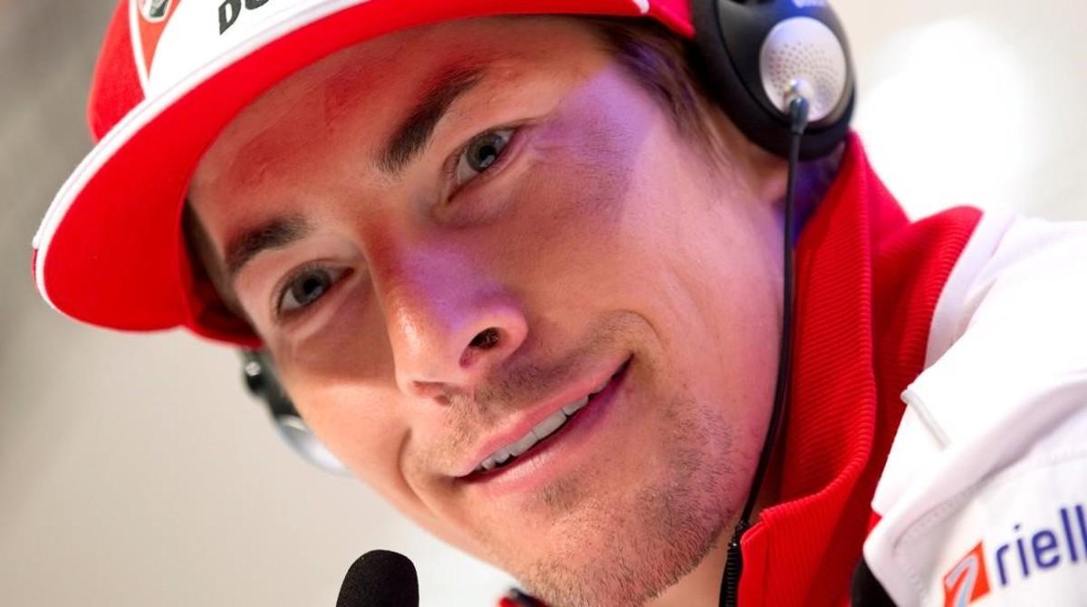 El norteamericano Nickiy Hayden, cuando corría con Ducati.