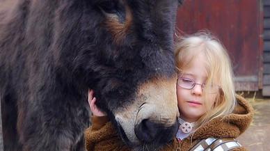 """Una niña recupera la voz gracias a su burro: """"Te quiero, Shocky"""""""