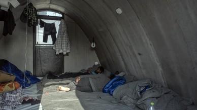 Campamento de refugiados de Moria, en la isla de Lesbos (Grecia).
