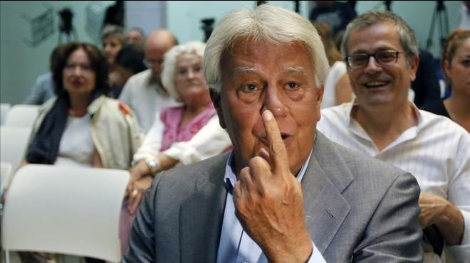 Felipe González contra Podem